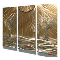"""Metal Art Wall Art Decor Abstract Contemporary Modern Sculpture- 3 Trees 36"""""""