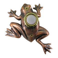 Bronze Plated Frog Doorbell