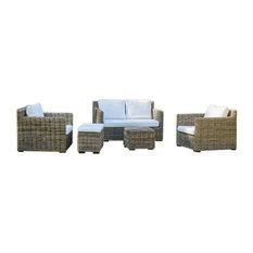 Kubu Rattan 5-Piece Sofa Set