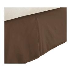 Becky Cameron Premium Ultra Soft Luxury Bed Skirt Dust Ruffle, Chocolate, Califo
