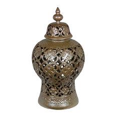 Privilege Large Ceramic Vase, Chocolate Finish