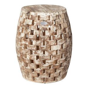Enjoyable Ik Geometric Garden Stool Contemporary Accent And Garden Creativecarmelina Interior Chair Design Creativecarmelinacom