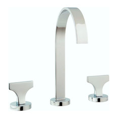 Spring Widespread Faucet Knobs and Drain, Polished Chrome