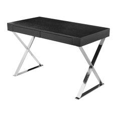 Pangea Home - Mason Desk, Black - Pantry and Cabinet Organizers