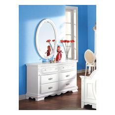 Flora Oval Mirror, White