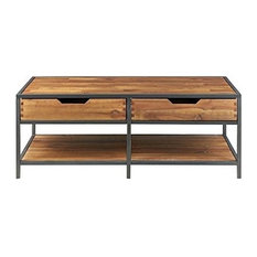 Madison Park Hudson Coffee Table In Natural/Graphite Finish MP120-0090