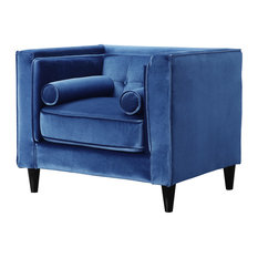meridian furniture usa taylor light blue velvet chair armchairs and accent chairs - Blue Velvet Chair