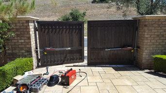 Dual swing gate openers installation