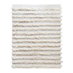 White Fringe Rug, 70x150 cm