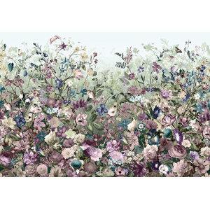 Botanical Garden Floral Photo Wall Mural, 368x248 cm
