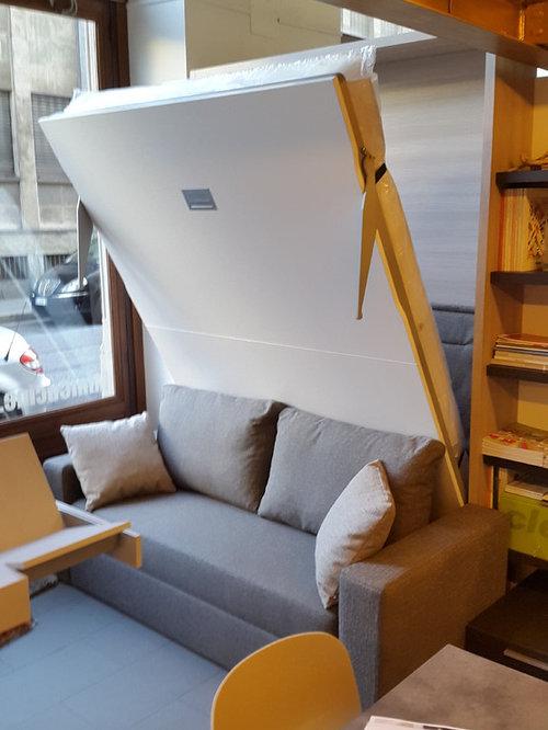 Letto a scomparsa verticale MOLTENI Relax con divano integrato ...