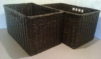 плетеные корзины в гардеробную