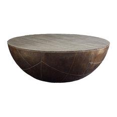 Superbe Brownstone Furniture Delano Drum Coffee Table