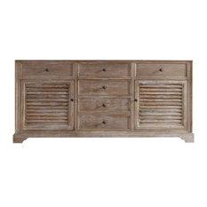 "71"" Savannah Double Cabinet, Driftwood, No Top"