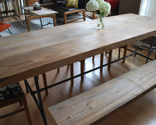 Reclaimed WoodPipe Industrial Dining Table