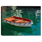 "Canvas Art Plus - Portofino Boat Indoor/Outdoor Art, 40"" x 30"", Fine Art Canvas - General Features"
