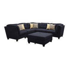 Coaster Fine Furniture   Coaster Keaton Corner, Midnight Blue 503452    Sectional Sofas