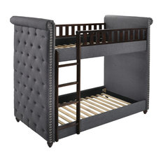Glory Furniture - Tudor Twin/Twin Bunk bed, Gray - Bunk Beds