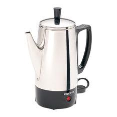 Presto Coffeemaker, 12 Cup, Stainless Steel, 800W