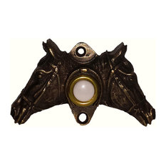 Double Horse Head Door Bell, Oil Rubbed Bronze