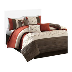 Madison Park Polyoni Solid Comforter 7-Piece Set, Embroidery, California King