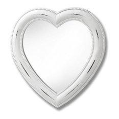 Heart Mini Mirror, White