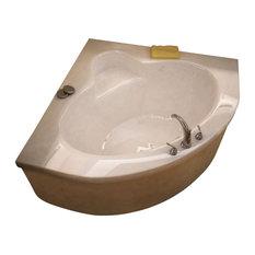 Atlantis Tubs 6060A Alexandria 60x60x23 Inch Corner Soaking Bathtub