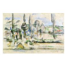 Paul Cezanne The Chateau de Medan Gallery Wrap Canvas
