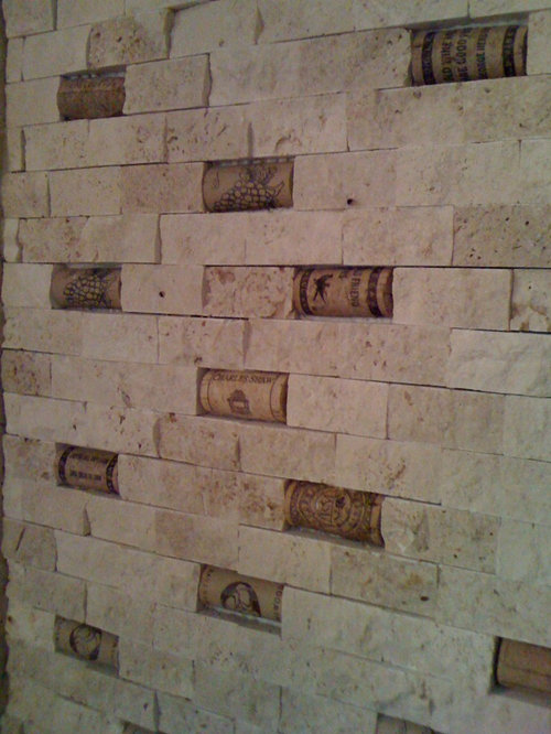 home decorators collection coastal travertine wine cork backsplash ideas pictures remodel and decor 12808