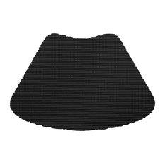 Kraftware Fishnet Black Wedge Placemats, Set of 12