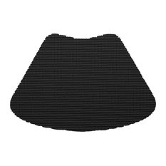 Kraftware Fishnet Black Wedge Placemats, Set of 12