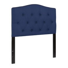 Cambridge Tufted Upholstered Twin Size Headboard Navy Fabric