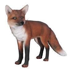 European Red Fox Statue