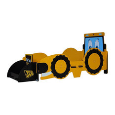JCB Joey the Digger Kid's Junior Bed, Yellow, 70x140 cm