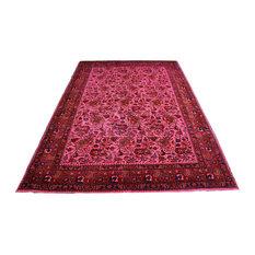West Of Hudson   Overdyed Hot Pink Rug Distressed Vintage Persian, 6u0027 X 9