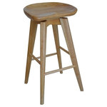 """Boraam - Bali Swivel Stool, Natural, 31"""" - The Bali Swivel Stool from Boraam Industries, Inc. boasts a solid hardwood footrest. Boasting a 360-degree swivel mechanism and contoured seat, this piece has been designed with your comfort in mind. Exuding a warm, luxurious feel, thanks to its rich colors and sumptuous textures, this swivel stool from Boraam Industries, Inc. makes a sophisticated addition to any interior space."""