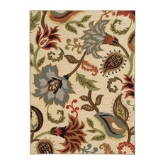 """Aubrey Floral Ivory and Multi Rug, 7'10""""x10'"""