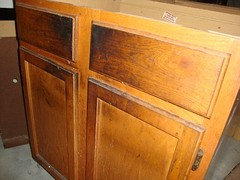 Oak Cabinets Covered With Grease And Dirt
