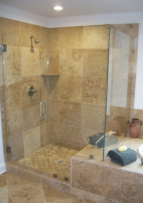 How thick should a frameless shower door be?