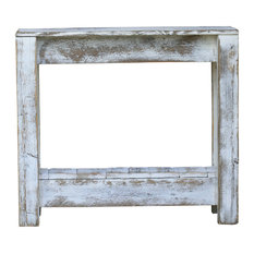 Rustic Accent Table, White
