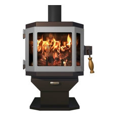Catalyst Mahogany Wood Stove with Pewter Door