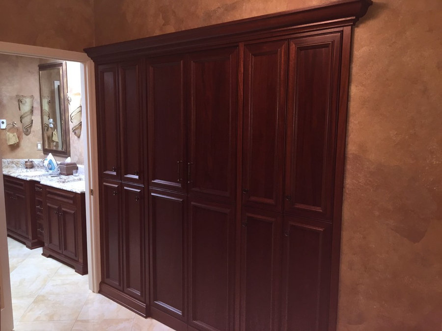 Quartered African Mahogany Laundry