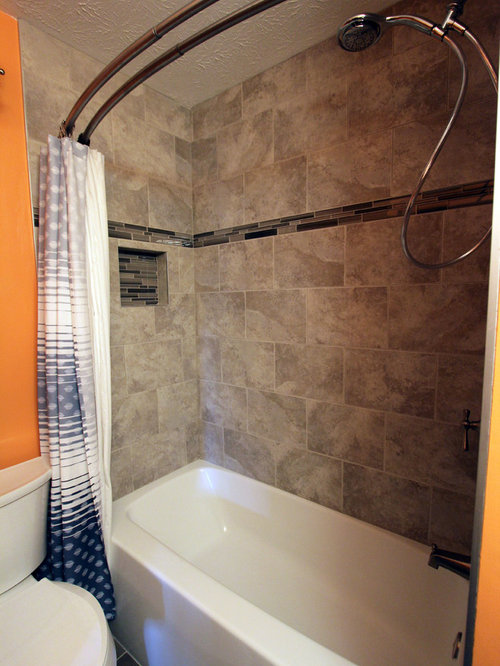 Master Bath Renovation Tiled Grey Shower ~ Brunswick, OH