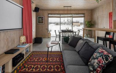 Houzz тур: Уединённый дом в карельской деревне