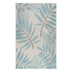 "Machine Made Anlier Outdoor Rug, Turquoise, 5'3""x7'6"""
