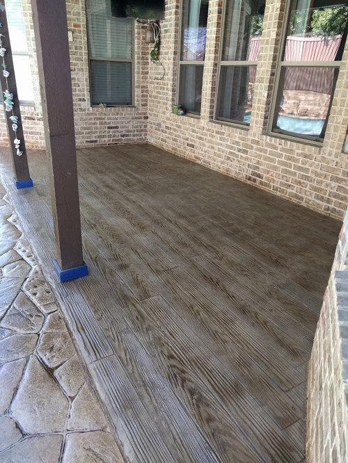 Wood Pattern Stamped Concrete Pattern : Stamped concrete wood plank pattern