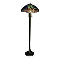 warehouse of tiffany inc dragonfly floor lamp floor lamps