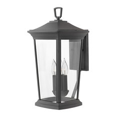 Hinkley Bromley Outdoor Large Wall Mount Lantern, Museum Black