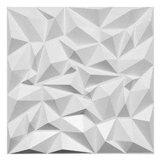 "19 5/8""W x 19 5/8""H Leto EnduraWall Decorative 3D Wall Panel, White"