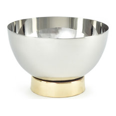 Stainless Steel Mini Bowl With Gold Rim Base, Set of 4